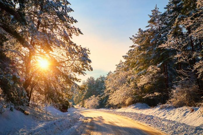 Winter Straße